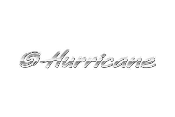 Hurricane deck boats logo